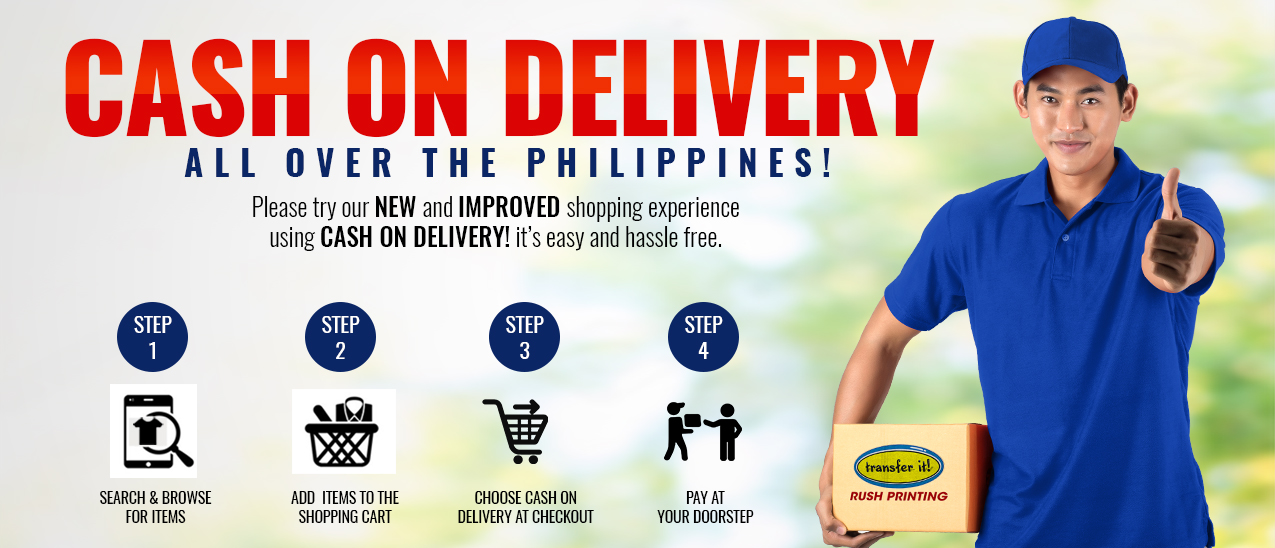 cash on delivery nationwide philippines at transfer it